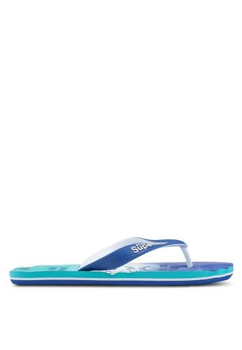 Superdry blue Faded Base Flip Flops B55BBSH0514AA3GS_1