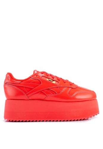 e3a34f1ace6d9 Reebok red Classic Leather Triple Platform Gigi Shoes D3B3FSH3F6EE86GS 1