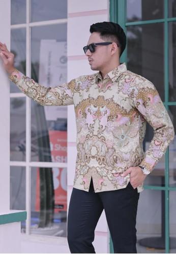 Batik Talenta Exclusive beige kemeja batik pria lengan panjang Batu raden 43210 B6648AA0CAEC91GS_1