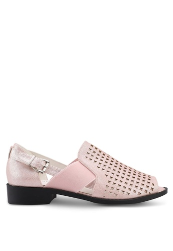 Noveni pink Perforated Sandals F9733SHDBBE996GS_1