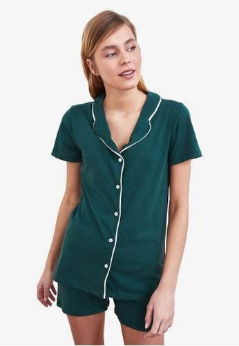 Trendyol green 2-Piece Pajama Set E2AB7AA3C6D3BBGS_1