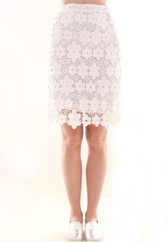JOVET white Full Lace Skirt JO914AA0GA43SG_1