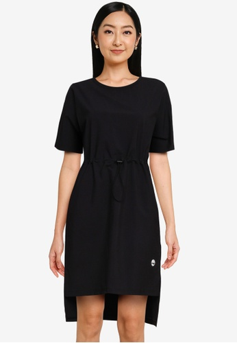 Timberland black Drawstring On Waist Relaxed Dress E03BBAA154688FGS_1