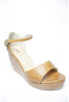 Kathy Ankle-Strap Wedge Sandals