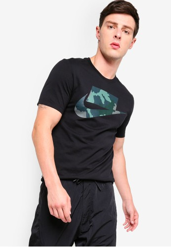 Nike black and multi As Men's Nsw Tee Camo Fill Ftra 00D0AAABA5E230GS_1