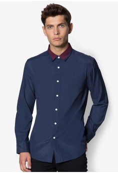 XM - Collar Tipping Long Sleeve Shirt