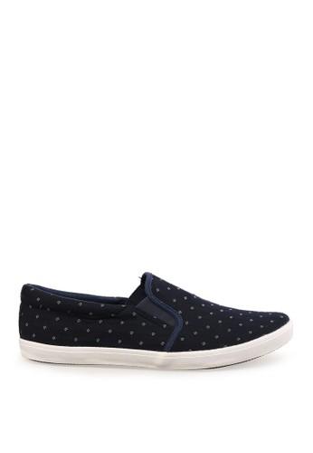 Minarno blue Blue Dotted Slip-On Sneakers MI641SH77PDIID_1