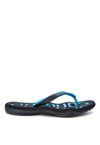 Krooberg black and blue Contour 7 Flip Flops KR692SH0K3EMPH_1