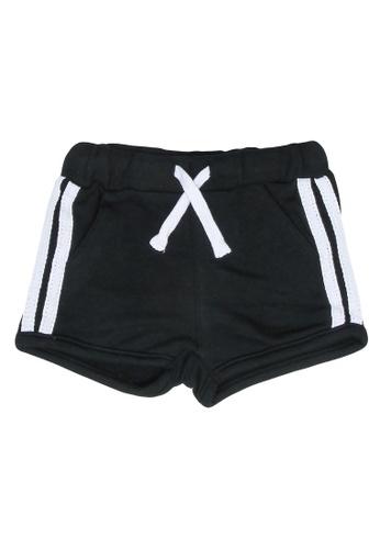 FOX Kids & Baby black Side Stripes Active Shorts F9496KA58E8B9EGS_1