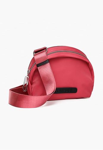 Lara pink Women's Nylon Zipper Waist Bag Cross-body Bag - Pink 603D3AC3AC2892GS_1