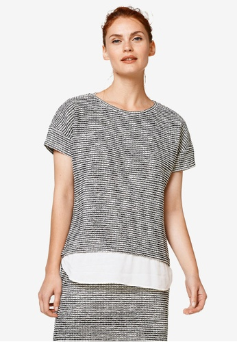 ESPRIT black Layered Short Sleeve Top 7E0CCAAC712F15GS_1