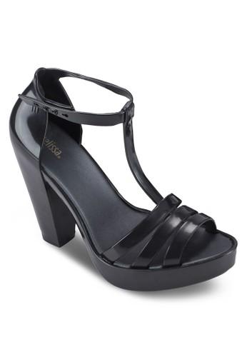 Dreamy T 字多帶粗跟高跟涼鞋, 女鞋esprit outlet 台灣, 鞋