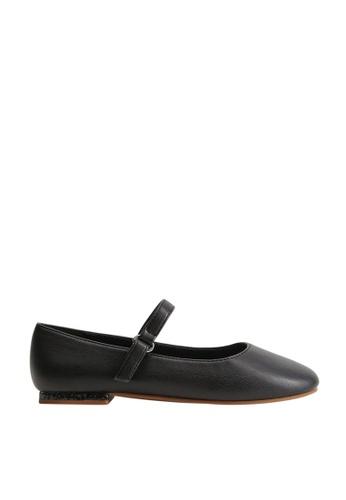 MANGO KIDS black Glitter Detail Ballerina Flats 39D5DKS4AC6E95GS_1