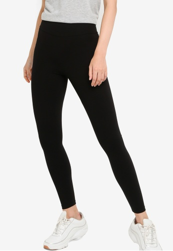 LC Waikiki black Corset-Effect Ankle-Length Active Sports Tights 38867AAFC50E4CGS_1