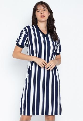 f24f70d9e6b80 Striped Dress With Side Slits
