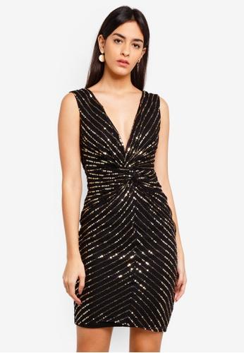 Goddiva 多色 亮片鑽飾無袖短洋裝 A7A2EAAEFE33E6GS_1