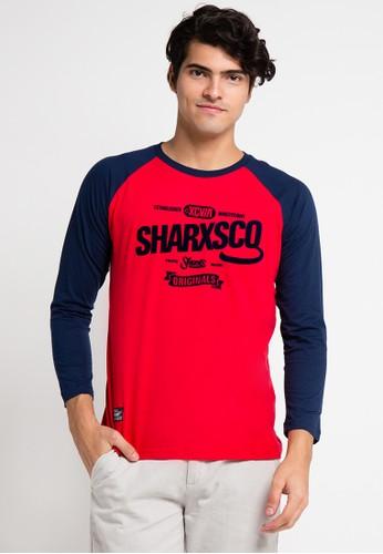 SHARKS red Long Sleeve T-Shirt SH473AA0UX3MID_1