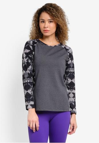 AVIVA grey Long Sleeve T-Shirt AV679AA20AAHMY_1
