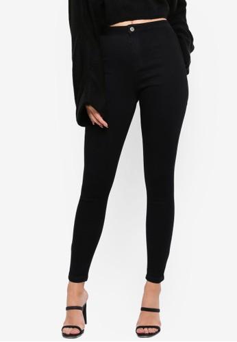 MISSGUIDED black Vice High Waisted Skinny Jeans 6E987AAD31EAD0GS_1