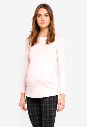 Dorothy Perkins 粉紅色 Maternity Blush Long Sleeve Top 19798AA0C1D05CGS_1