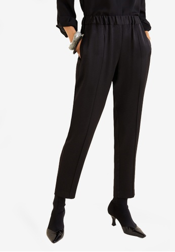 Mango black Satin Trousers 91A23AA7D5E4C8GS_1