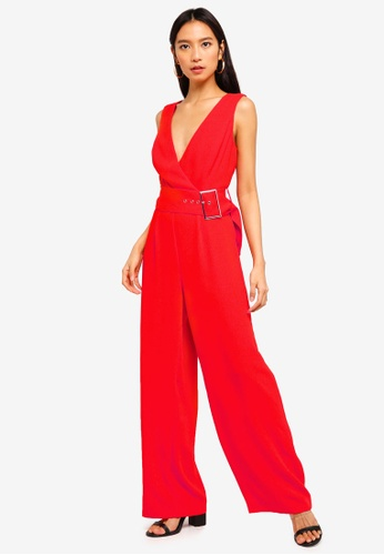 River Island red Clementine Jumpsuit 2819FAAC996D21GS_1