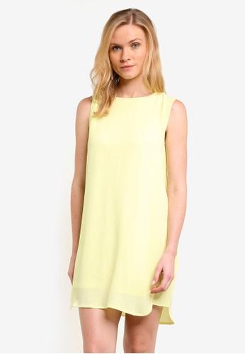 ZALORA yellow Essential Pleated Side Detail Dress 42964ZZD0E4EDEGS_1