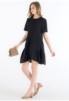 Black dress zalora k fashion