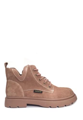 Twenty Eight Shoes beige Stylish Leather Martin Boot VB701 DED4ASH9FC4B8BGS_1