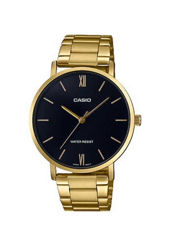 Casio gold Casio Men's Analog MTP-VT01G-1BUDF Stainless Steel Band Gold Watch 3492BACC422831GS_1