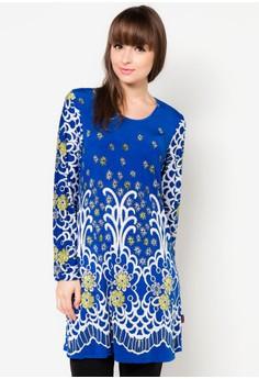 Floral Print Muslimah Blouse