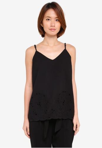 Dorothy Perkins black Black Cutwork Camisole Top ACBA8AA27062DEGS_1