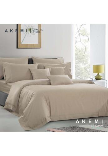 AKEMI brown AKEMI Cotton Select Affinity - Sage Box Cobble Brown (Quilt cover Set) B16ACHL6DA517DGS_1