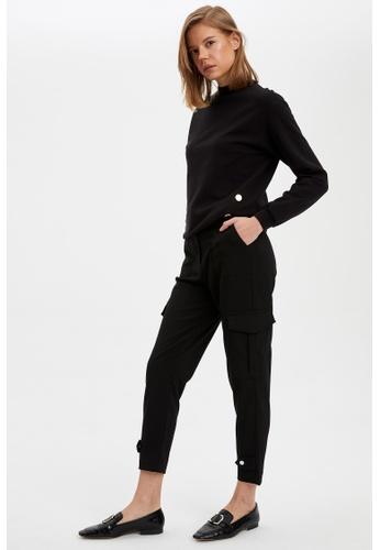 DeFacto black Woman Woven Trouser 91928AA0C9F124GS_1