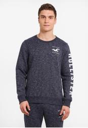 Hollister navy Logo Sweatshirt HO422AA0SBOFMY_1