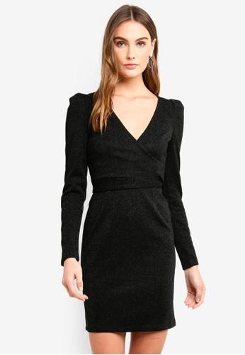 Vero Moda black Wild L/S Short Dress 4DCF5AA8CA3A04GS_1