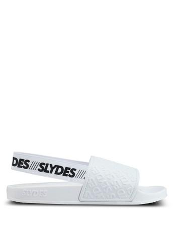 Slydes white Roamer Sandals 44A20SH86856D3GS_1