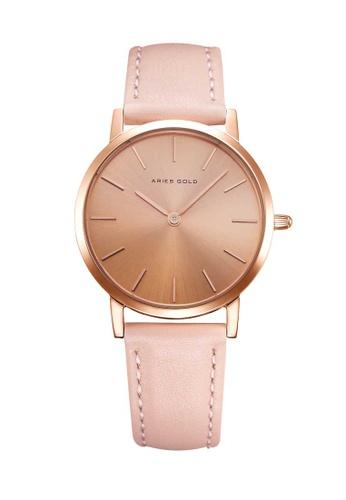 Aries Gold pink Aries Gold Urban Santos L 1023 Rose Gold and Pink Watch 38199ACA77D7CCGS_1