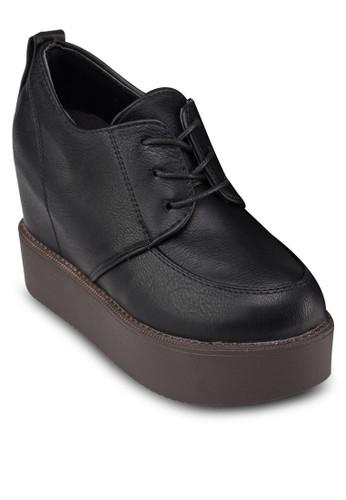 內zalora時尚購物網的koumi koumi增高厚底皮鞋, 女鞋, 靴子