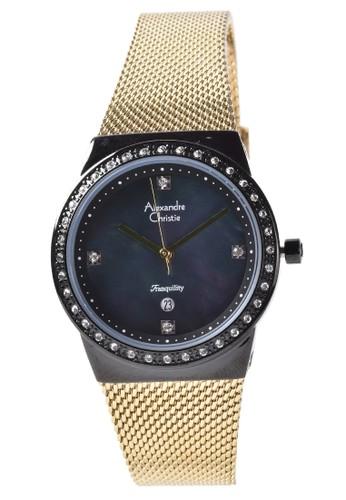 Alexandre Christie gold Alexandre Christie - Jam Tangan Wanita - Black - Gold Stainless Steel - 2711LDBGBMA 4D178ACD6F5C41GS_1