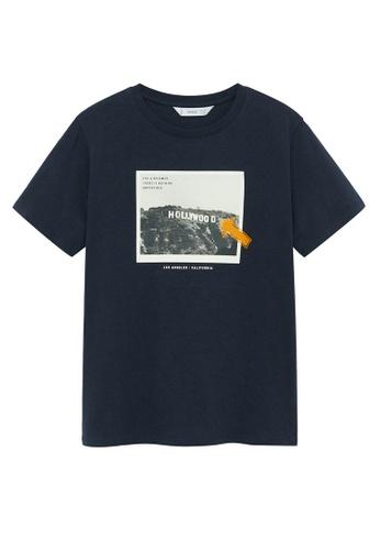 MANGO KIDS blue Organic Printed Cotton T-Shirt A21E2KA18C1D7CGS_1