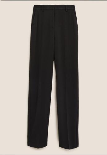 MARKS & SPENCER black M&S Straight Leg Trousers EB283AA1BD1D34GS_1