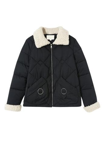 Its Me beige Lamb Wool Stitching Puffer Jacket F14D2AA1EB6BC9GS_1