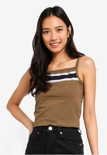Cotton On green and multi Crop Cami Top 9E44EAA6A5661CGS_1