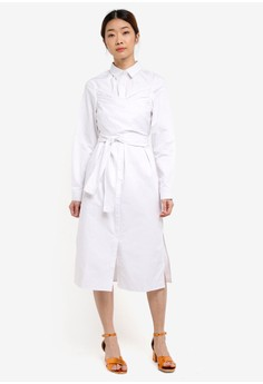 Wrap Around Shirt Dress
