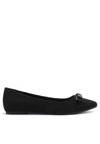 Twenty Eight Shoes 黑色 時尚休閒絨面平底鞋 888-2 77398SHBBDC608GS_1