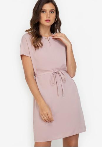 ZALORA WORK pink Bar Detail Oversized Dress 02DD5AA9BB8CCFGS_1