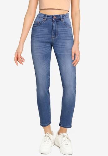 Electro Denim Lab blue Quantic Tapered Mom Jeans FE4CFAA4CA24CEGS_1