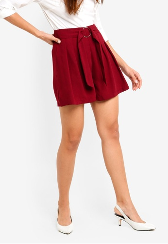 ZALORA red Relaxed Shorts 2EC85AA62C969AGS_1