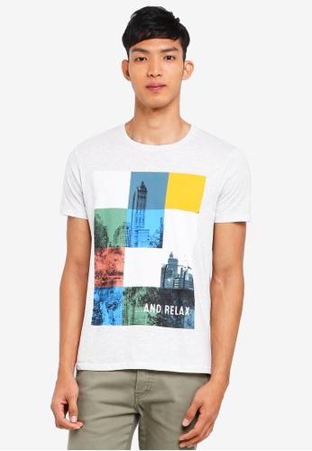 ESPRIT 白色 Short Sleeve T-Shirt D8DC2AAEE9B665GS_1